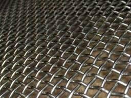 Рифленая нержавеющая сетка 20x20x1.2 мм 12Х18Н10Т ГОСТ 3826-
