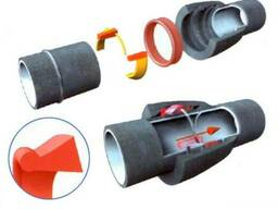 Безраструбная заглушка с прижимными скобами 125 мм Pam-Globa
