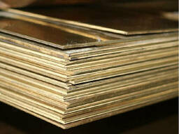 Латунные пластины 0.1 мм ЛО62 ГОСТ 2208-2007