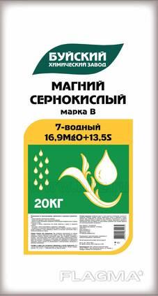 Магний сернокислый, 7-водный (сульфат магния), 20 кг.