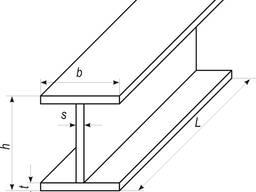 Стальной нормальный (стандартный) двутавр, сварная балка