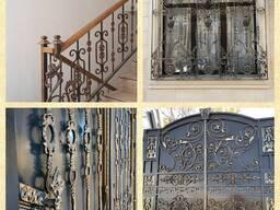 Ворота, перила, решётки, ограждения и пр изделия из металла