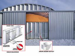 Зернохранилища напольного типа - стальные арочные амбары